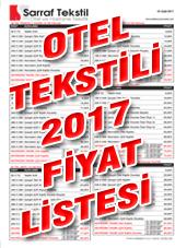 Otel Tekstili Fiyat Listesi 2016