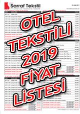 Otel Tekstili Fiyat Listesi 2018